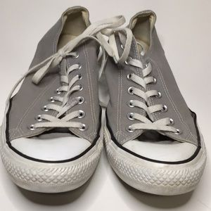 Converse All Star grey canvas sneakers classic Ox